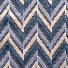 Blue Geometric Velvet