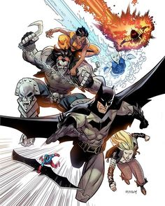 """Penciled and inked by Ryan Ottley and colours by Sunny Gho """"Here's the final cover for the new JLA that I did. Colors by Sunny Gho!"""