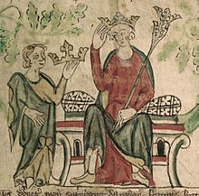 Edward II - (1284-1327) British Library Royal 20 A ii f10 (detail).jpg Father Edward I of england, mother Eleanor of Castile, married Isabella of France