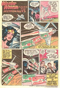 Wonder Woman Saves the Astronaut Hostess Ad
