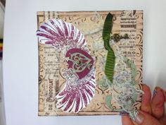 Another take I did with Tim Holtz wing stamp:)