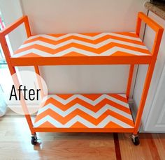 Teaching in four classrooms this year means needing a cart. And this is a great idea for decorating whatever thrifted cart I find.