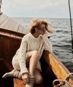 Boat Fashion, Nautical Fashion, Fashion Shoot, Editorial Fashion, Fashion Outfits, Womens Fashion, Casual Summer Outfits For Women, Gamine Style, Knitwear Fashion