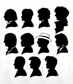 doctor who silhouettes just 10 and 11, i only have 6 spaces on my lamp