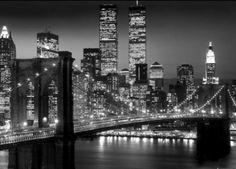 New York (Brooklyn bridge night) - plakat - 140x100 cm  Gdzie kupić? www.eplakaty.pl