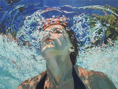 Beneath the Surface: Sublime Underwater Portraits by Samantha French swimming portraits painting Underwater Painting, Modelos 3d, Original Paintings, Oil Paintings, French Paintings, Amazing Paintings, Amazing Artwork, Colorful Paintings, Illustration Art