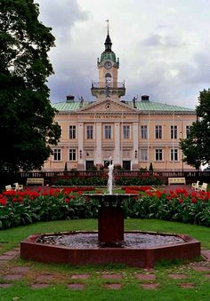 The old Town hall of Pori, Finland. Built in Architect: Carl Ludvig Engel. Helsinki, Western Coast, Kingdom Come, Europe, Baltic Sea, Town Hall, Great Pictures, Old Town, Cool Places To Visit