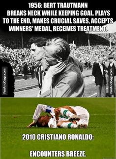 Soccer - 1956 Vs 2010, Man of steel, Portugees Pussy