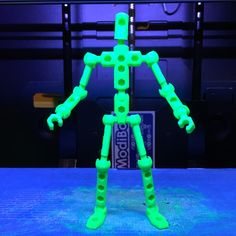 3d printable figure files for ModiBot Mo - Free  Print your own highly-poseable figures at home on your desktop 3d printer!