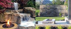 Top 70 Best Backyard Waterfalls - Water Feature Design Ideas Backyard Patio Designs, Ponds Backyard, Backyard Waterfalls, Backyard Ideas, Garden Ideas, Modern Landscape Design, Modern Landscaping, Backyard Landscaping, Natural Waterfalls