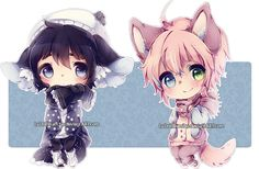 chibi commissions by LaDollBlanche on DeviantArt