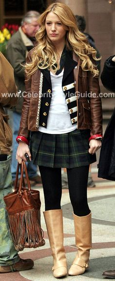 Gossip Girl Style and Fashion - Tory Burch Shrunken Sgt Pepper Jacket    Hair, clothes, everything.