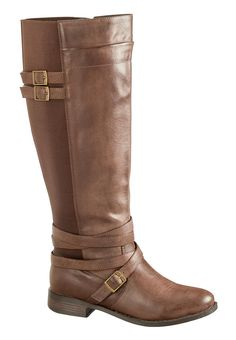 brown Winona wide calf riding boot for my big o'calves