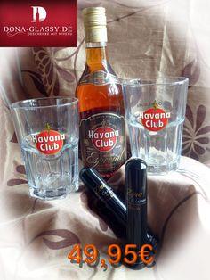 Rum Havana Club Especial aus original Havana Club Gäsern und 2 Zigarre aus dem Hause Zino