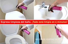 Express limpieza del baño. ¡Todo está limpio en 6 minutos! Neural Connections, Need To Lose Weight, Bathroom Cleaning, Natural Cleaning Products, Home Hacks, Something To Do, Household, Sink, How Are You Feeling