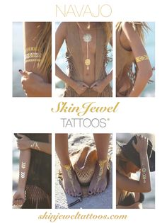 Metallic temporary tattoos, real jewels for your skin skinjeweltattoos.com