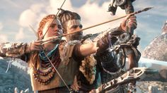 These images are made by the amazing team at Guerrilla Games. I had the honour to work on the main character of our brand new IP : Horizon: Zero Dawn.  I did all the texturing for Aloy, and some mesh work such as the beads and all the fur.  Hair was done by Johan Lithvall.