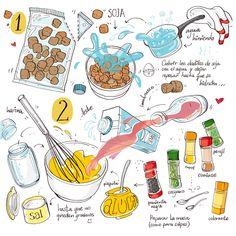 Cartoon Cooking: All-Bran empanaditos de soja ^.^