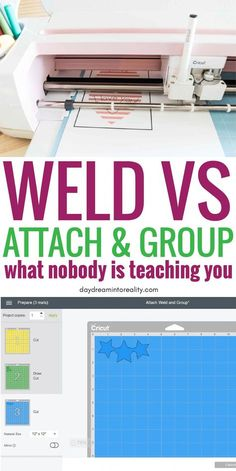 What do Weld, Attach & Group Mean on Cricut Design Space? What is Weld?What is Attach? What is Group? Find out the answers to these questions in this ultimate Weld, Attach, and Group Tutorial. You will soon learn how to Use Weld in Cricut Design Space. Cricut Air 2, Cricut Help, Cricut Vinyl, Cricut Ideas, Cricut Tutorials, Cricut Craft Room, Cricut Explore Air, Circuit Projects, Cricut Creations