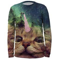 ef8f27dd638 Gugu   Miss Go Teal Galaxy Unicorn Cat Sublimated Sweatshirt - Adult