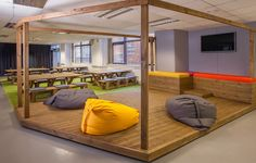 Varied spaces to work and play at Duke Studios coworking space in Leeds, UK.