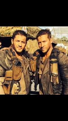 Tom hardy and stunt double.