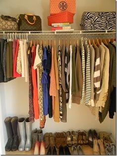 Organized Closet    Jimmy Choos on the Treadmill