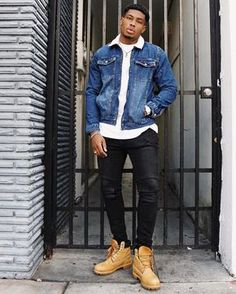 Timberland Outfits Men, Timberland Stiefel Outfit, Timberland Classic, Timberland Style, Timberland Sneakers, Swag Outfits Men, Stylish Mens Outfits, Urban Style Outfits Men, Stylish Clothes For Men