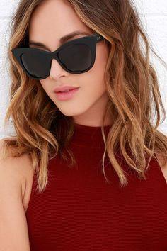 4e3b1606e2ff9 Fun in the sun just got even better with the Quay Modern Love Black  Sunglasses Sunnies