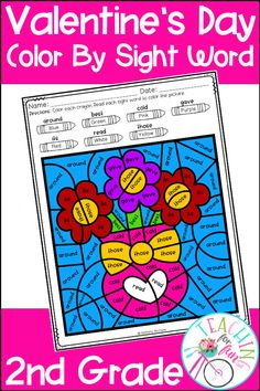 These 2nd Grade Color By Code Sight Word activities are perfect for Valentine's Day! NO PREP! Just simply print and go! A black and white student version is included along with a color-coded answer key. Use these Color By Code Sight Word activities for: Daily 5 – Work on Words, Early Finisher Activities, ELL and ESL Activities, Emergency Sub Tub Activities, Holidays, Homeschool, Homework, Inside Recess Activities, Literacy Center Activities, Morning Work, RTI, SLP Activities, and Thematic Units.