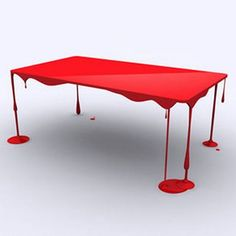 Very cool paint drip table design ♥ Unusual Furniture, Funky Furniture, Furniture Design, Furniture Ideas, Painted Furniture, Kitchen Furniture, Design Tisch, Cool Tables, Side Tables