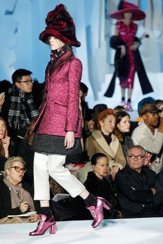 Marc Jacobs fall '12; Another one of my favorite shades in metallic for fall! I like where this season is headed! Cold Weather + Bright Outerwear = Cold weather not as awful.