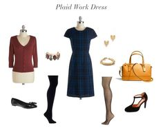 Plaid Work Dress   How She'd Wear It with Style and Cheek
