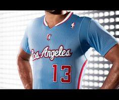 """Nouveau maillot alternatif bleu ciel et """"près du corps"""" pour les Clippers #Basket #NBA #LosAngelesClippers"""