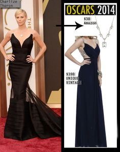 Charlize Theron Dior dress for less #oscar2014