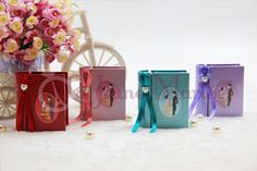 Every Princess longed to meet her Prince and live happily ever after. Are you ready to share your sweet fairy tale love story with your guests?  Shop now for our unique fairy tale story book design candy box!