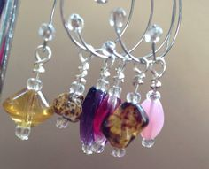 Wine Glass Charms - Set of 6 on Etsy, £5.00