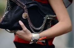 Stella McCartney chain bags.