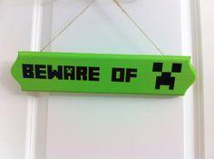 Minecraft creeper door sign beware of creeper by CarterMasons, $15.00