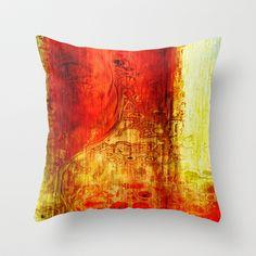 Flame arcadia Throw Pillow by Jean-François Dupuis - $20.00