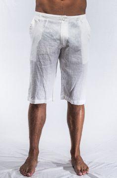 Mens Long Linen Shorts - The Else