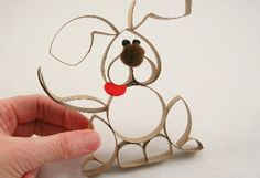 Paper roll puppy