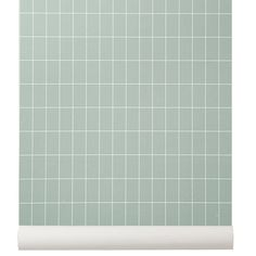 Ferm Living's Grid wallpaper features a graphic design that will look great especially in the study or office. The pattern has been printed on WallSmart wallpaper that is easier and faster to hang, since the paste can be applied directly to the wall. Ferm Living Wallpaper, Grid Wallpaper, Contemporary Interior Design, Contemporary Furniture, Nordic Home, Scandinavian Living, Home Decor Online, Nordic Design, Wall Treatments