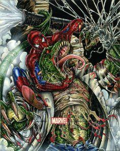 Spider-man vs the lizard