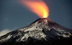 The Villarrica volcano, one of Chile's most active