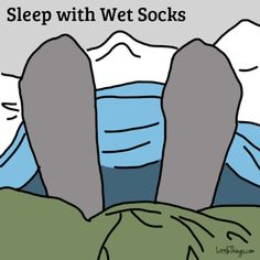 "Can't imagine this myself.. but Original pinner said: Though it might sound very surprising, wearing wet socks to bed can actually help to ease your cold symptoms. Best Health magazine writes, ""Believe it or not, this soggy strategy can help ease a fever and clear congestion by drawing blood to the feet, which dramatically increases blood circulation."" --- (the rest of what you do is in this post, along with other tips for colds & flu)"