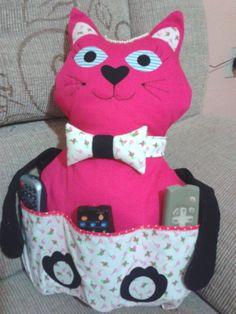 almofada gato porta controle remoto
