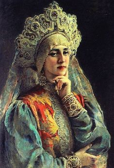 Russian beauty is one of artworks by Konstantin Makovsky. Artwork analysis, large resolution images, user comments, interesting facts and much more. Young Teacher Outfits, Winter Teacher Outfits, Russian Beauty, Russian Art, Russian Style, Russian Folk, Russian Culture, Baroque Art, Bridesmaid Outfit