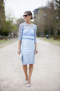 serenity blue top with skirt