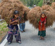 Village girls Uttarakhand
